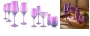 Artland Set of 4 16oz Luster Purple Goblets