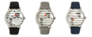 Olivia Pratt Love Arrows Leather Strap Watch