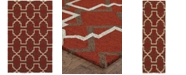 Tommy Bahama Home  Atrium Indoor/Outdoor 51103 Red/Brown Area Rug