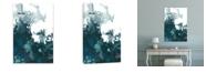"Artissimo Designs Indigo Tempest Ii Coated Embellished Canvas Art - 24"" W x 36"" H x 1.5"" D"