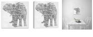"Artissimo Designs Elephant Walk Printed Canvas Art - 18"" W x 18"" H x 1.5"" D"