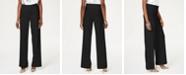 INC International Concepts INC Wide-Leg Crêpe Side Zip High Waist Pants, Created for Macy's