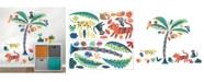 Brewster Home Fashions Tropical Rainforest Friends Wall Art Kit