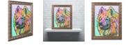 """Trademark Global Dean Russo 'Samoyed' Ornate Framed Art, 11"""" x 14"""""""