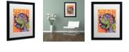 """Trademark Global Dean Russo 'Shar Pei Love' Matted Framed Art, 16"""" x 20"""""""