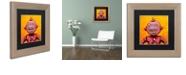 """Trademark Global Craig Snodgrass 'Weebot-Friends' Matted Framed Art, 11"""" x 11"""""""