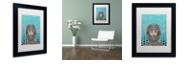 """Trademark Global Craig Snodgrass 'Sally-Saturn' Matted Framed Art, 11"""" x 14"""""""
