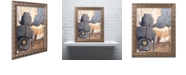 "Trademark Global Craig Snodgrass 'All Done Now' Ornate Framed Art, 11"" x 14"""