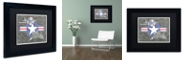 "Trademark Global Viz Art Ink 'Flight Of The Fighter' Matted Framed Art, 11"" x 14"""