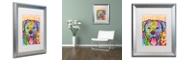 """Trademark Global Dean Russo 'Rottweiler Luv' Matted Framed Art, 16"""" x 20"""""""