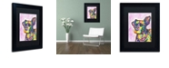 """Trademark Global Dean Russo 'Keen' Matted Framed Art, 11"""" x 14"""""""