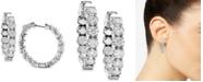 Macy's Diamond In & Out Hoop Earrings (3-1/4 ct. t.w.) in 14k White Gold