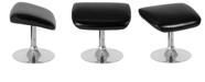 Flash Furniture Egg Series Black Leather Ottoman