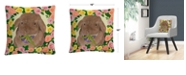 """Baldwin Tweakie Animals Pets Painting Bold 16x16"""" Decorative Throw Pillow by Pat Saunders-White"""