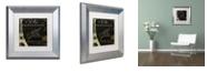 "Trademark Global Color Bakery 'La Cuisine Vi' Matted Framed Art, 11"" x 11"""