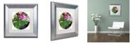 "Trademark Global Color Bakery 'Glassberry I' Matted Framed Art, 11"" x 11"""
