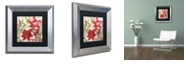 "Trademark Global Color Bakery 'Christmas In Paris I' Matted Framed Art, 11"" x 11"""