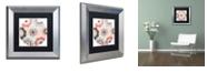 "Trademark Global Color Bakery 'Umbrella Skies I' Matted Framed Art, 11"" x 11"""