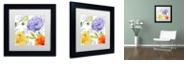 "Trademark Global Color Bakery 'Rhapsody I' Matted Framed Art, 11"" x 11"""