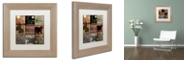"""Trademark Global Color Bakery 'Cabela Clock' Matted Framed Art, 11"""" x 11"""""""