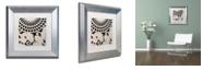 "Trademark Global Color Bakery 'Stylesque Iv' Matted Framed Art, 11"" x 11"""