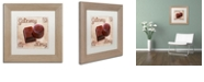 """Trademark Global Color Bakery 'Chocolate Therapy Ii' Matted Framed Art, 11"""" x 11"""""""