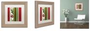 """Trademark Global Color Bakery 'Woodlands Christmas Iv' Matted Framed Art, 11"""" x 11"""""""