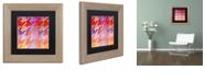 "Trademark Global Color Bakery 'Houndstooth Viii' Matted Framed Art, 11"" x 11"""