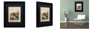 """Trademark Global Color Bakery 'European Vacation I' Matted Framed Art, 11"""" x 14"""""""