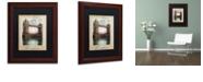 "Trademark Global Color Bakery 'European Vacation Iii' Matted Framed Art, 11"" x 14"""