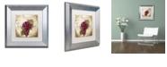 "Trademark Global Color Bakery 'Tuscany Table Merlot' Matted Framed Art, 11"" x 11"""