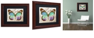 "Trademark Global Color Bakery 'Papillon I' Matted Framed Art, 11"" x 14"""