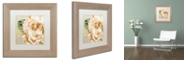 "Trademark Global Color Bakery 'Camellias I' Matted Framed Art, 11"" x 11"""