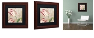"Trademark Global Color Bakery 'Peppermint Tulips I' Matted Framed Art, 11"" x 11"""