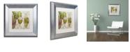 "Trademark Global Color Bakery 'Wine Cellar Ii' Matted Framed Art, 11"" x 11"""