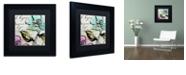 "Trademark Global Color Bakery 'Dogwood I' Matted Framed Art, 11"" x 11"""