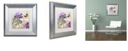 "Trademark Global Color Bakery 'Petals Of Paris Iv' Matted Framed Art, 11"" x 11"""