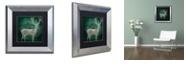 "Trademark Global Color Bakery 'Emerald Deer' Matted Framed Art, 11"" x 11"""