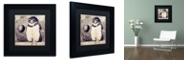 "Trademark Global Color Bakery 'Moon Owl' Matted Framed Art, 11"" x 11"""