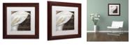 "Trademark Global Color Bakery 'Fleurs Blanc I' Matted Framed Art, 11"" x 11"""