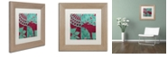 "Trademark Global Color Bakery 'Woodland Winter Ii' Matted Framed Art, 11"" x 11"""
