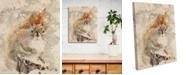 "Creative Gallery Winter Squirrel Watercolor 16"" X 20"" Canvas Wall Art Print"