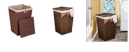 Honey Can Do Decorative Woven Hamper with Lid