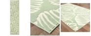 """Oriental Weavers Barbados 8027Z Green/Ivory 1'10"""" x 7'6"""" Indoor/Outdoor Runner Area Rug"""