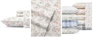 Laura Ashley Core Rosalie Lt-Pastel Grey King Flannel Sheet Set