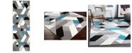 "Surya Santa Monica SAC-2316 Teal 2'7"" x 7'6"" Runner Area Rug"