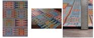 Surya CLOSEOUT! Sajal SAJ-1063 Sky Blue 4' x 6' Indoor/Outdoor Area Rug