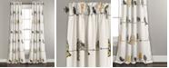 "Lush Decor Rowley Birds Room Darkening Window Curtain Panels Set, 84"" x 52"""