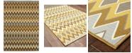 """Oriental Weavers Bali 1732D Gray/Gold 1'9"""" x 3'9"""" Indoor/Outdoor Area Rug"""