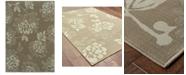 """Oriental Weavers Bali 4335B Gray/Blue 1'9"""" x 3'9"""" Indoor/Outdoor Area Rug"""